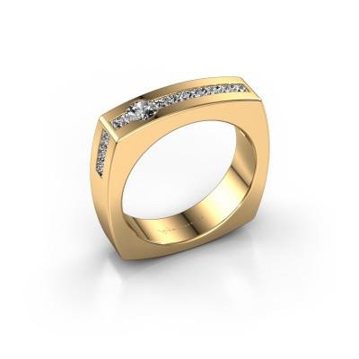 Foto van Mannen ring Arend 375 goud zirkonia 3.8 mm