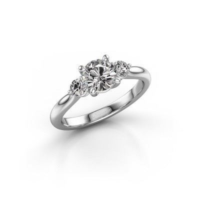 Picture of Engagement ring Lieselot RND 925 silver zirconia 6.5 mm