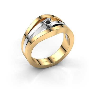 Ring Carlijn 585 Gold Schwarz Diamant 0.036 crt