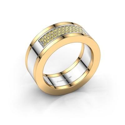 Bild von Ring Marita 1 585 Weißgold Gelb Saphir 1.1 mm