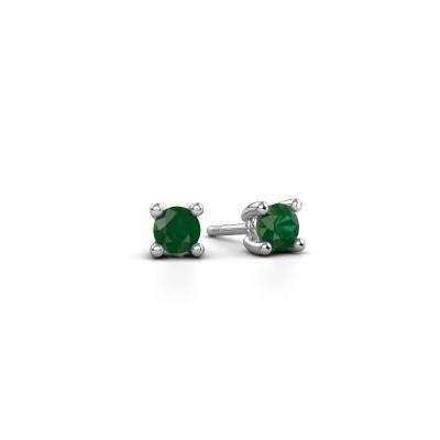 Picture of Stud earrings Sam 950 platinum emerald 4 mm