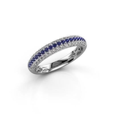 Foto van Ring Emely 2 925 zilver saffier 1.3 mm