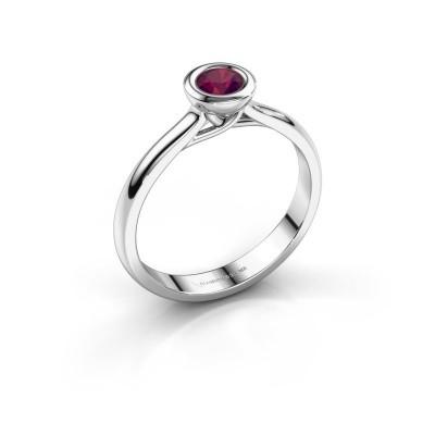 Foto van Verlovings ring Kaylee 950 platina rhodoliet 4 mm