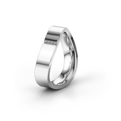Trouwring WH2046P 585 witgoud diamant ±5x2.2 mm