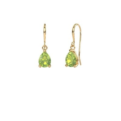 Picture of Drop earrings Laurie 1 585 gold peridot 8x5 mm