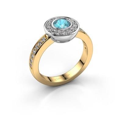 Ring Ivy 585 gold blue topaz 5 mm