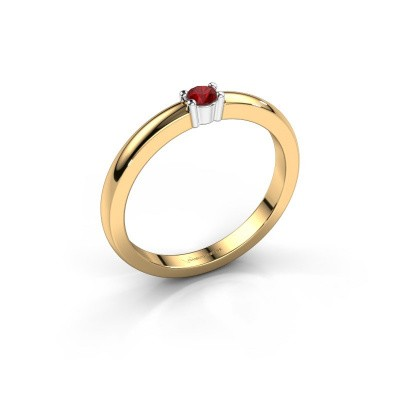 Foto van Promise ring Yasmin 1 585 goud robijn 2.7 mm