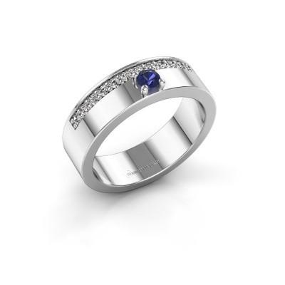 Ring Vicki 925 zilver saffier 3 mm