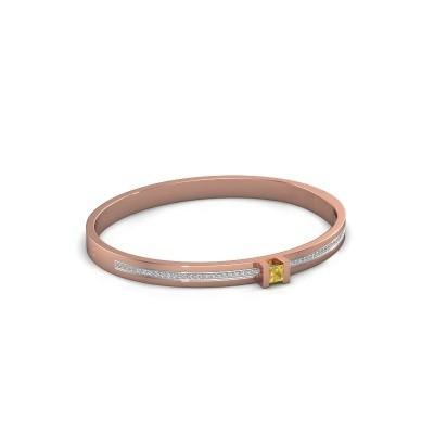 Foto van Armband Desire 585 rosé goud gele saffier 4 mm