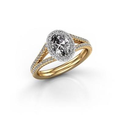 Engagement ring Rachele 2 585 gold diamond 1.174 crt