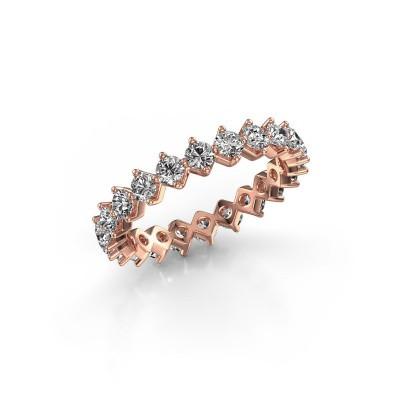 Foto van Aanschuifring Janie 2.7mm 375 rosé goud lab-grown diamant 1.76 crt