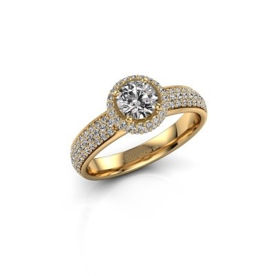 Engagement ring Mildred 375 gold lab-grown diamond 1.311 crt
