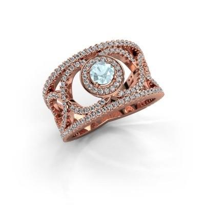 Picture of Ring Regina 375 rose gold aquamarine 4.2 mm