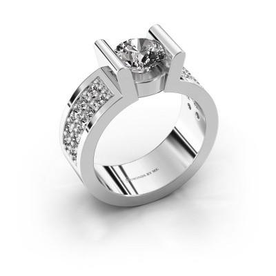 Verlovingsring Sofie 3 375 witgoud diamant 1.00 crt