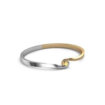 Bangle Sheryl 585 gold yellow sapphire 3.7 mm