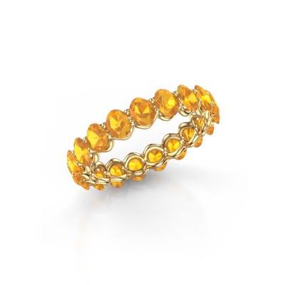 Ring Kirsten OVL 4x3 375 goud citrien 4x3 mm