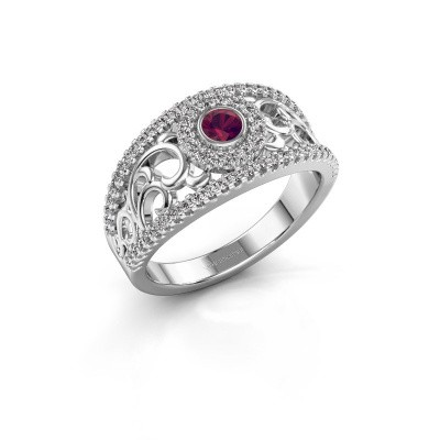 Picture of Ring Lavona 925 silver rhodolite 3.4 mm