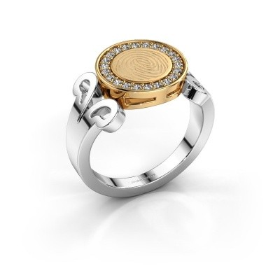 Ring Doret 585 witgoud