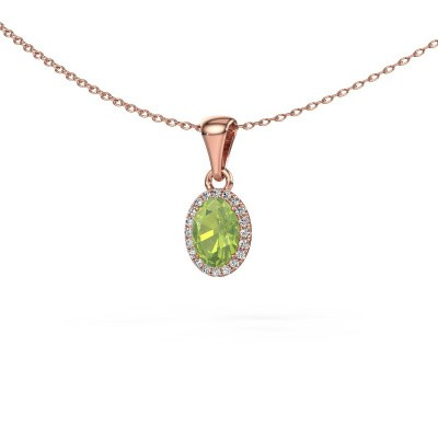 Picture of Pendant Seline 375 rose gold peridot 7x5 mm