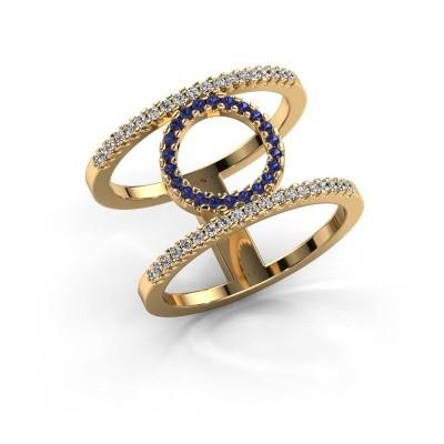 Ring Latoria 2 375 goud saffier 1.1 mm
