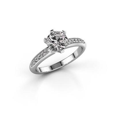 Engagement ring Tiffy 2 585 white gold diamond 1.00 crt