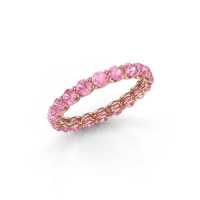 Foto van Ring Kirsten 2.9 375 rosé goud roze saffier 2.9 mm