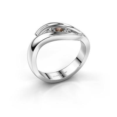 Foto van Ring Erin 925 zilver rookkwarts 2.4 mm