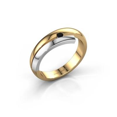 Ring Shela 585 goud zwarte diamant 0.054 crt