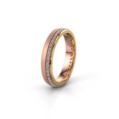 Bild von Ehering WH0303L24AM 585 Roségold Diamant ±4x1.7 mm