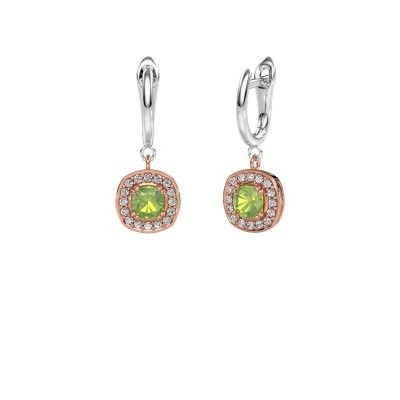 Drop earrings Marlotte 1 585 rose gold peridot 5 mm