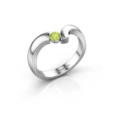 Ring Arda 925 zilver peridoot 3.4 mm