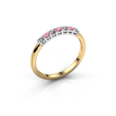 Verlobungsring Michelle 7 585 Gold Pink Saphir 2 mm