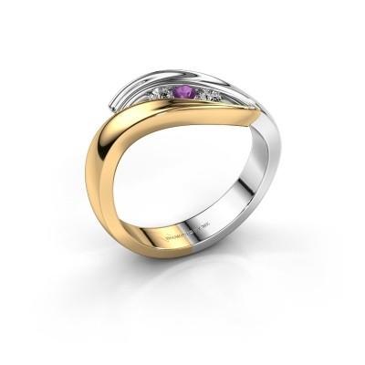Foto van Ring Erin 585 goud amethist 2.4 mm