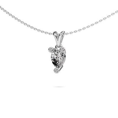 Ketting Cornelia Pear 585 witgoud lab-grown diamant 0.67 crt