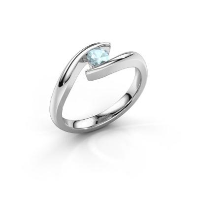 Picture of Engagement ring Alaina 950 platinum aquamarine 4 mm