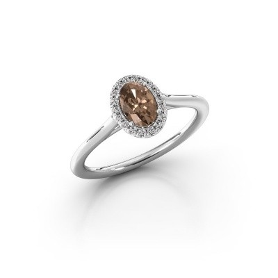 Engagement ring Seline 1 585 white gold brown diamond 0.59 crt