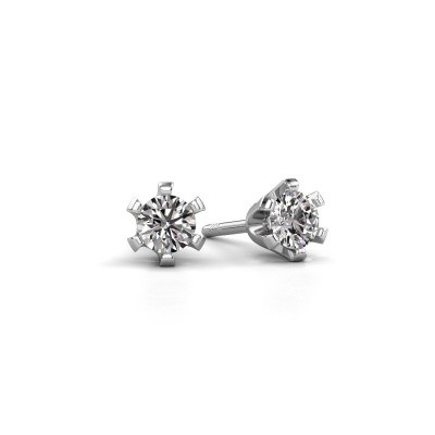 Picture of Stud earrings Shana 950 platinum zirconia 4 mm
