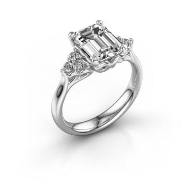 Foto van Aanzoeksring Myrna EME 950 platina diamant 2.68 crt