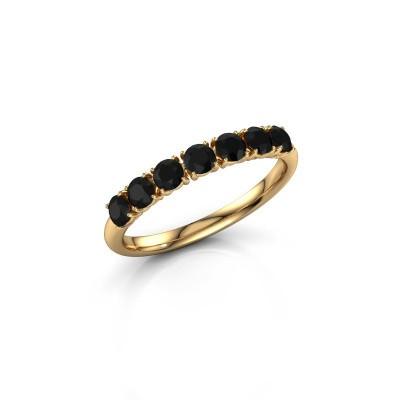 Foto van Ring Vivienne Half 375 goud zwarte diamant 0.798 crt