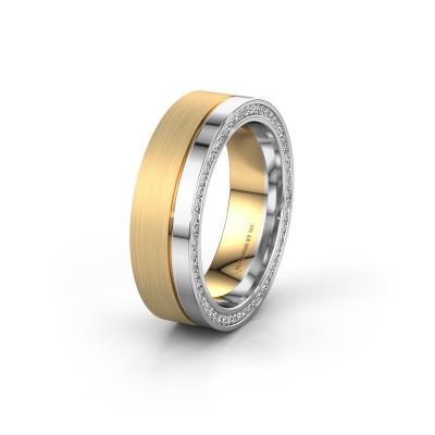 Foto van Trouwring WH0313L16B 585 goud diamant ±6x2 mm