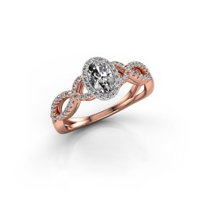 Picture of Engagement ring Tanesha 585 rose gold diamond 0.82 crt