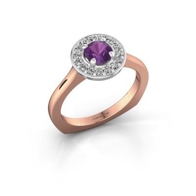 Foto van Ring Kanisha 1 585 rosé goud amethist 5 mm