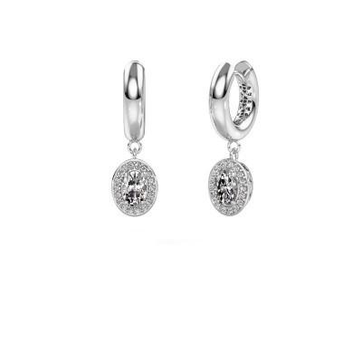 Pendants d'oreilles Annett 950 platine diamant 1.241 crt