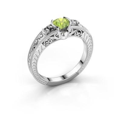Promise ring Tasia 950 platina peridoot 5 mm