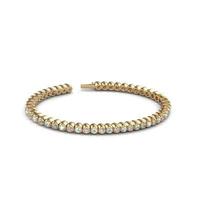 Tennisarmband Patrica 375 goud zirkonia 2.4 mm