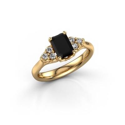 Foto van Aanzoeksring Myrna EME 375 goud zwarte diamant 1.530 crt