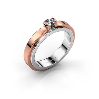 Verlobungsring Jacinda 585 Weißgold Diamant 0.25 crt