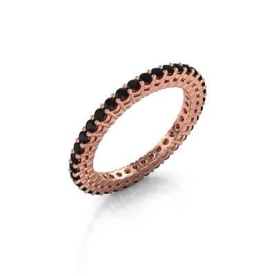 Aanschuifring Rufina 2 375 rosé goud zwarte diamant 0.864 crt