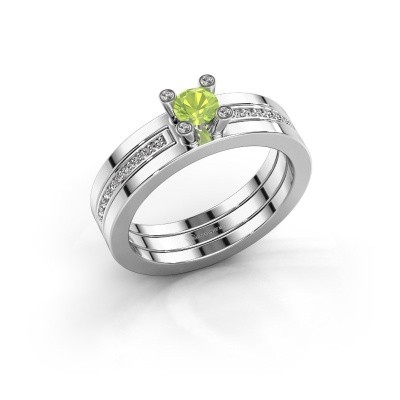 Picture of Ring Alisha 950 platinum peridot 4 mm