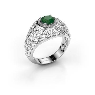 Pinky Ring Jens 950 Platin Smaragd 6.5 mm